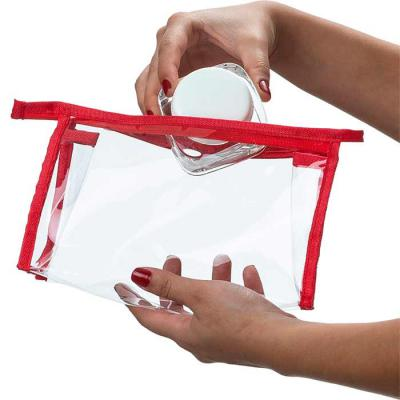 Expresso Brindes - Necessaire plástica vermelha