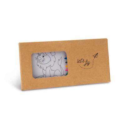 Capital Brindes & Cia - Kit para pintar em caixa de cartão. Cartão. Incluso 8 gizes de cera e 8 cartões para pintar e pendurar. 180 x 90 x 10 mm
