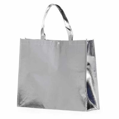 Capital Brindes - Sacola TNT resistente metalizada