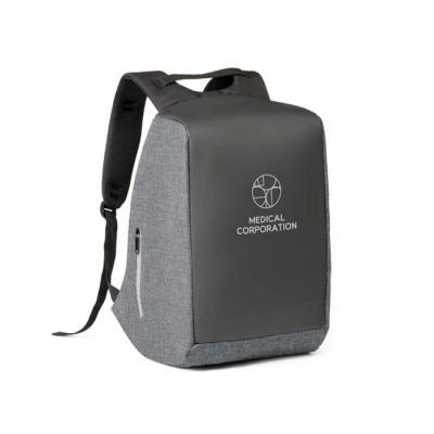 Capital Brindes & Cia - Mochila para notebook. 900D de alta densidade e tarpaulin. Sistema anti-roubo: compartimento principal com zíper oculto e parte posterior com 2 bolsos...