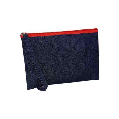 Ideia e Costura - Necessaire jeans  22X14CM
