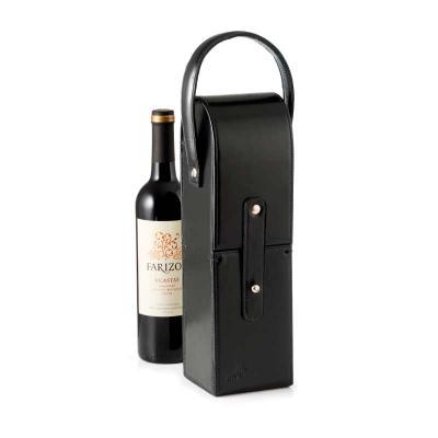 P2K Brindes - Porta vinho de couro