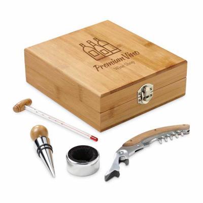 Textograff  - Brindes Promocionais - Kit Vinho Bambu Personalizado