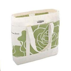 Master Bolsas - Sacola em algodão, alça do próprio material, medida 40x35x08 cm