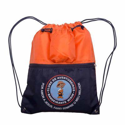 Multipacks Brasil - Mochila saco com bolso e zíper personalizado