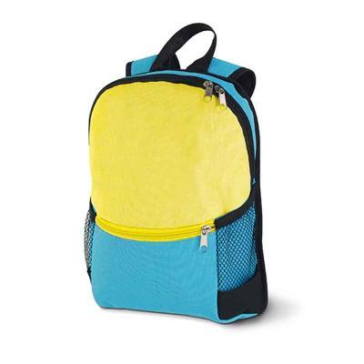 Multipacks Brasil - Mochila. 600D. Bolso frontal com zipper e bolsos laterais em tela. 230 x 310 x 80 mm