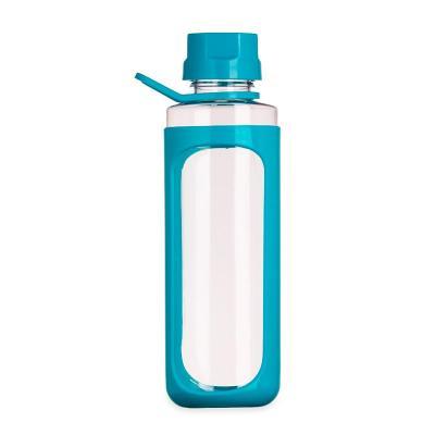 Multipacks Brasil - Squeeze plástico 650ml transparente com detalhes coloridos. Tampa colorida rosqueável com relevo, possui alça e uma espécie de capa(não é removível) p...