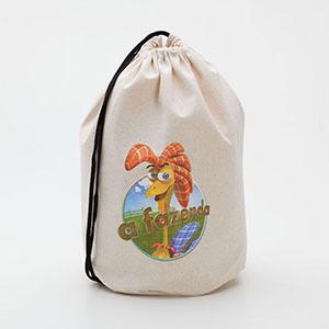 Multipacks Brasil - Saco mochila 30 x 40 cm, em algodão crú, com 1 cordão