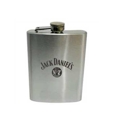 Brindes Curitiba - Cantil porta Whisky em aço inox, 120 gramas, medidas 12x10,5 cm., gravação a laser