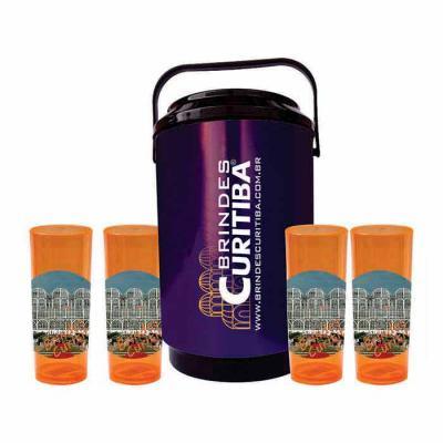 Brindes Curitiba - kit cooler e copos long drink