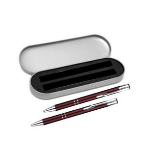 Brindes Curitiba - Kit caneta e lapiseira metálicas em várias cores com gravação a laser.