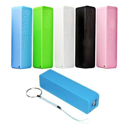 Zimi Brindes - Carregador portátil USB personalizado. Acompanha 1 bateria Power Bank 2600 mAh e 1 mine cabo USB. É o brinde ideal para distribuir para clientes e col...