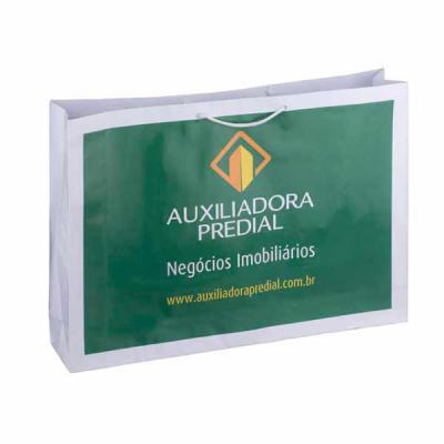 Rota das Embalagens - Sacolas papel off set180gr impresso em cromia plastificada