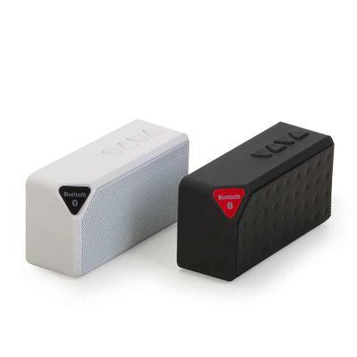 Santa Paula Brindes - 12901 - Caixa de som multimídia, rádio FM, alto falante de 80db, bluetooth 2.1, entrada USB, entrada micro SD, função atende chamadas, acabamento embo...