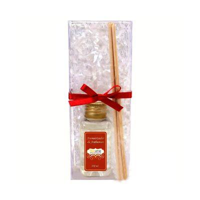 Beetrade Gift - Kit Aromatizador, contém: aromatizador de ambientes, 3 varetas, uma embalagem em acetato fechada com fita e uma personalização em adesivo