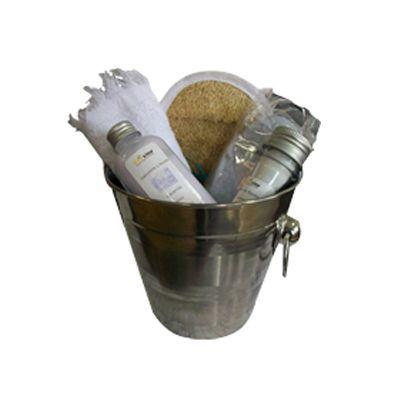Beetrade Gift - Kit de banho com sabonete,bucha, toalha e sais de banho.