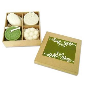 Beetrade Gift - Kit de banho personalizado   01 sabonete mousse  01 sabonete massageador 02 sabonetes 100% artesanal  01 caixa MDF crua com divisória.   Peso 600 g....