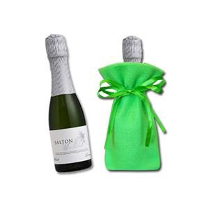 Beetrade Gift - Kit espumante - Embalagem em tecido com espumante Salton 187ml Moscatel.