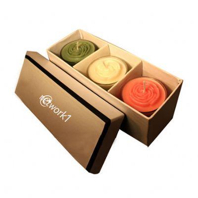 Beetrade Gift - Kit de velas aromáticas contendo 3 copos tulipa de 5,0 de diâmetro x 7,0 de altura, 3 velas aromáticas em formato de flor, 1 caixa de papelão rígido,...