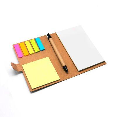 Allury Brindes - Bloco de anotações Eco com sticky notes