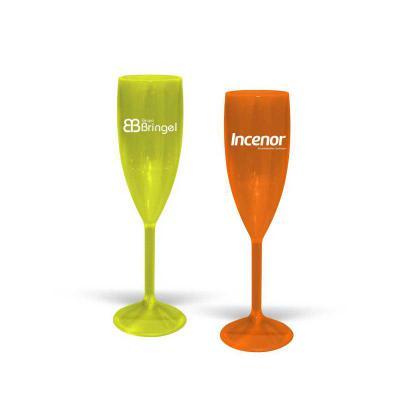 Allury Brindes - Taça VIP CRISTAL para Champagne Personalizada, 180ml, alta resistência, reforçada, acabamento impecável e alta transparência. Cores Disponíveis - CRIS...
