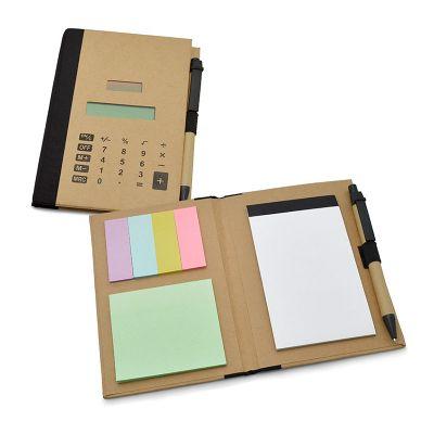 Allury Brindes - Bloco de anotações com capa calculadora