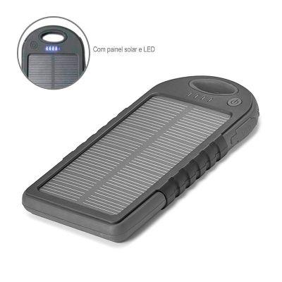 Allury Brindes - Bateria Portátil Solar ABS com LED