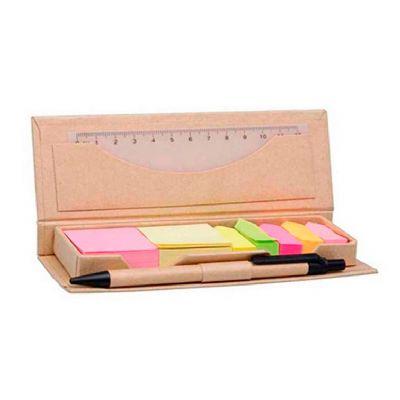 Allury Brindes - Bloco de anotações Eco com caneta e régua 12cm