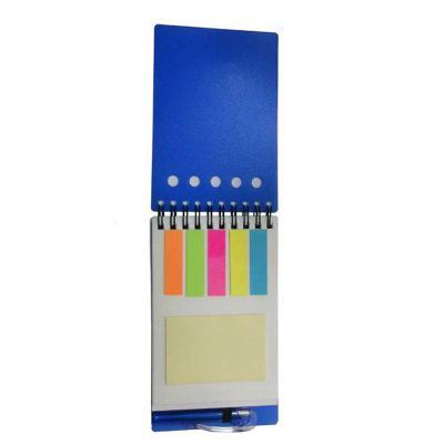 Allury Brindes - Bloco de anotações PVC com sticky notes