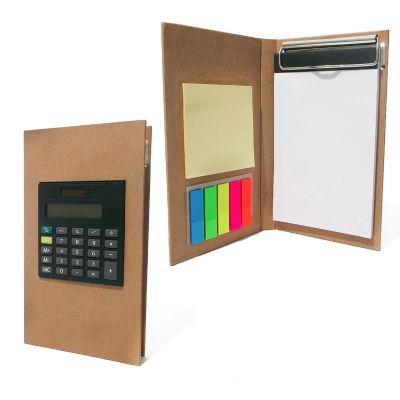 Allury Brindes - Bloco de anotações ecológico com calculadora e rascunho auto colante.