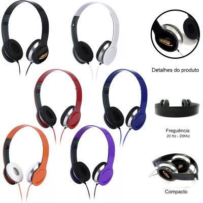 Allury Brindes - Fones de ouvido estéreo Kimaster são de alta qualidade e conta com tecnologia de cancelamento de ruído ativo que proporciona um som mais limpo e poder...