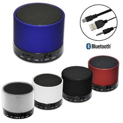 Allury Brindes - Mini Caixa de Som com Bluetooth Portátil KIMASTER 1