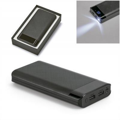 Allury Brindes - Carregador Power Bank Bateria Portátil ABS com Led 16000 mAH 1