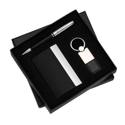 Allury Brindes - Conjunto com 3 pçs Porta Cartão, Caneta e Chaveiro 1
