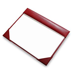 """Laeder Couro - Risque e rabisque """"Beth"""" em couro vermelho para papel A4."""