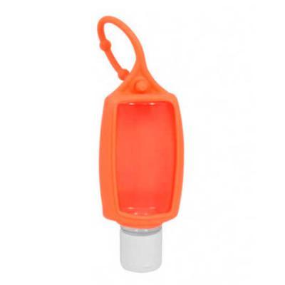 Essence Brindes - Chaveiro álcool gel personalizado. Esse suporte é ideal para ser pendurado em bolsas e mochilas. Ele possui prático suporte de borracha e frasco com c...
