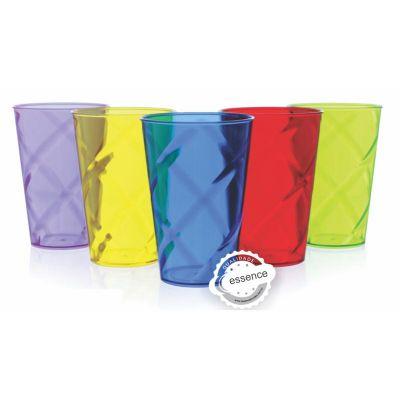 Essence Brindes - Copo shake com efeito interno espiral. Características: Fabricado em poliestireno P.S Cristal; Diversas cores e também neon Produto em plástico não de...