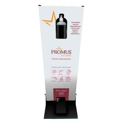 Promus Brindes - Totem MDF para álcool em gel