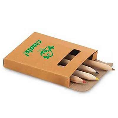 Promus Brindes - Kit para Pintar em Caixa de Cartão Cor Natural