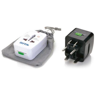 promus-brindes - Adaptador universal de tomadas, compativel com todas as tensões disponíveis.