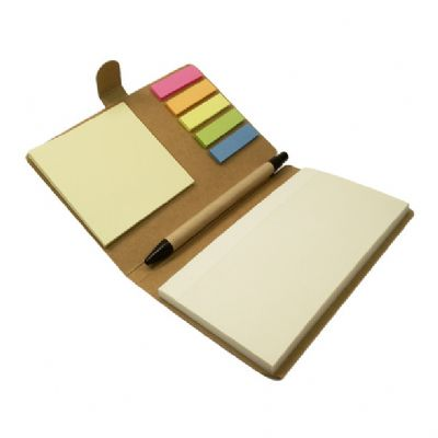 Promus Brindes - Bloco de anotações com adesivos coloridos e caneta