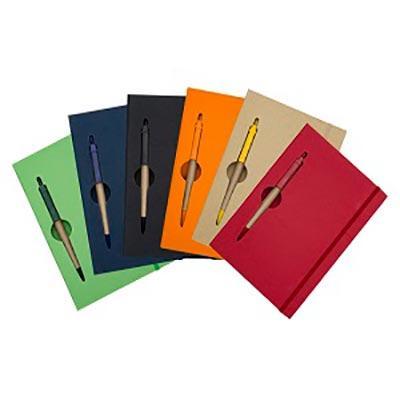 Promus Brindes - Bloco de anotações brochura capa dura com 120 folhas pautadas destacáveis