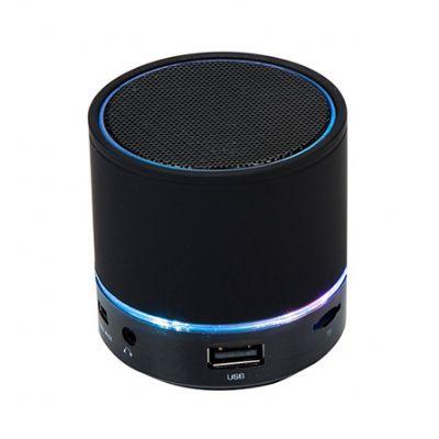 Promus Brindes - Caixa de som, luzes de LED na base da caixinha de som