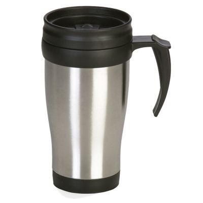 Promus Brindes - Caneca em aço inox. Capacidade de 400 ml