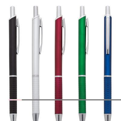 Promus Brindes - Caneta PVC fosca inteira colorida com detalhes prata