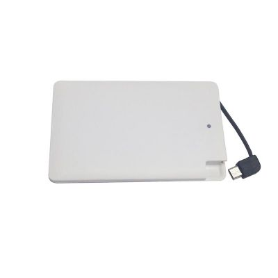 Promus Brindes - Carregador portátil power bank slim 2000 mAh com adaptador para Iphone 5 e 6.