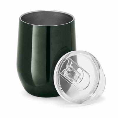 Promus Brindes - Copo de viagem. Aço inox. Com corpo duplo. Capacidade: 400 ml. Food grade. Fornecida em caixa. Dimensões: 88 mm x 112 mm