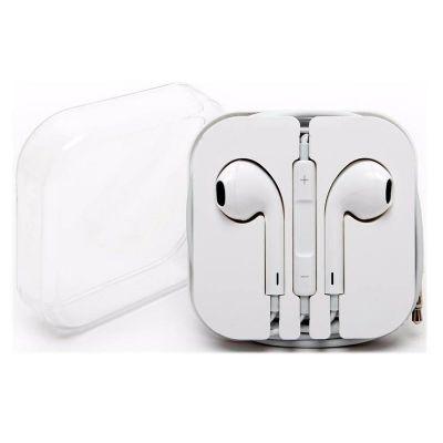 Promus Brindes - Fone de ouvido para celular com controle de volume, microfone e liga-desliga. Acompanha caixa acrílica.