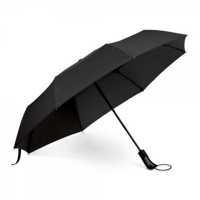Promus Brindes - Guarda chuva dobrável personalizado 190T pongee. Pega revestida em borracha. Abertura automática. Fornecido em bolsa.  Guarda-chuva ø980 mm   320 mm...