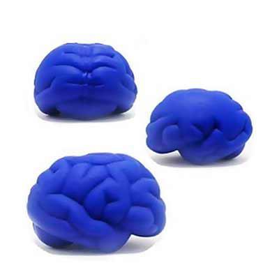 Promus Brindes - Bolinha Anti Stress em Formato de Cérebro Azul